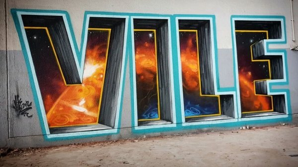 Rodrigo Nunes AKA Vile Creates Awesome Graffitis That Look Like Optical Illusions