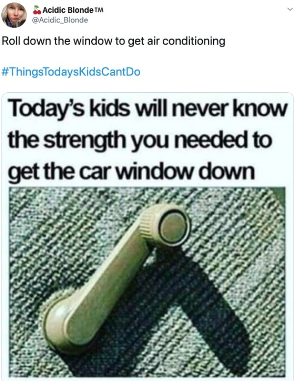 Things Todays Kids Can't Do