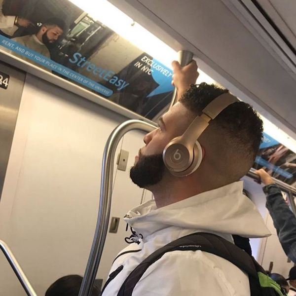 Commuters Who Look Like their Surroundings