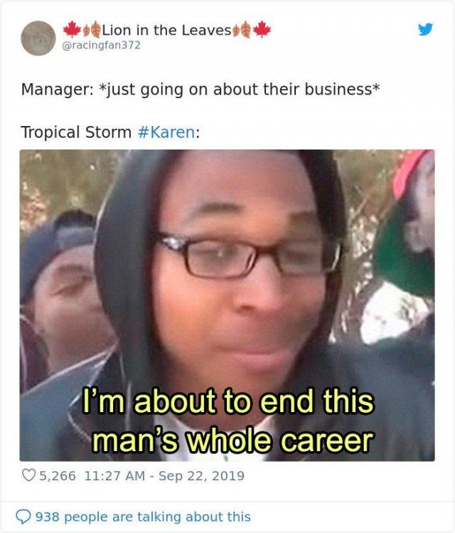 Tropical Storm Karen Memes