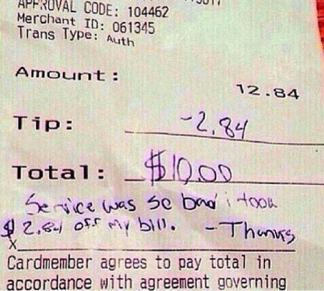 Bad Customers