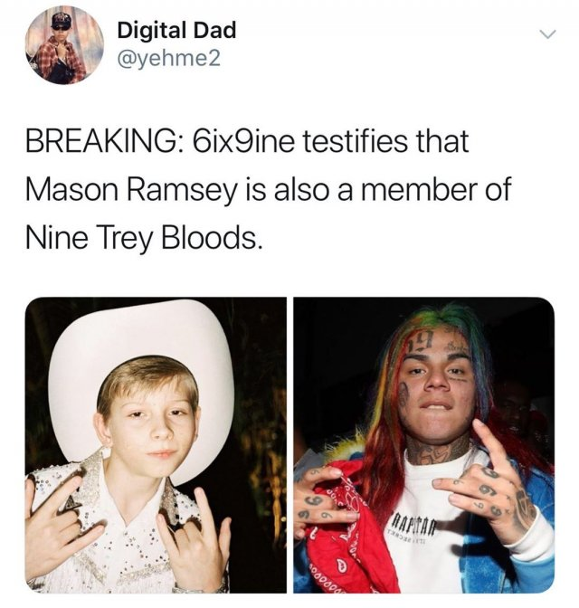 Memes About Rapper 6ix9ine Being A Snitch