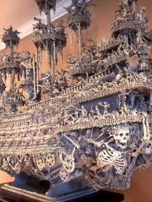 Guy Spends 14 Months To Build This Amazing Ghost Ship