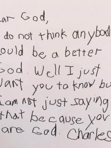 Teacher Asks Her 3rd Graders To Write A Letter To God