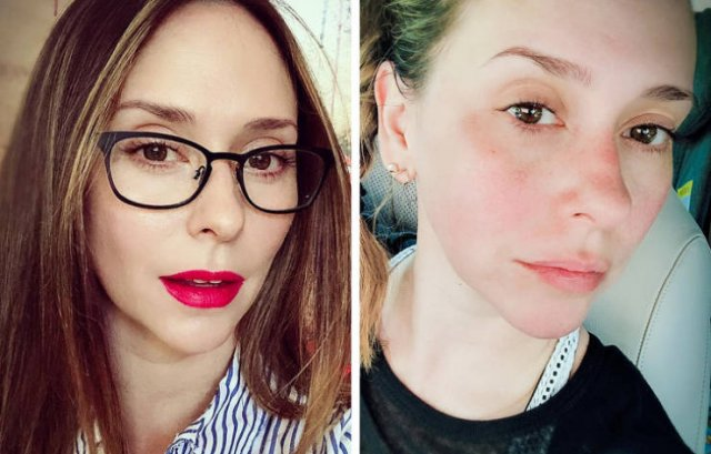 Famous Women With And Without Makeup
