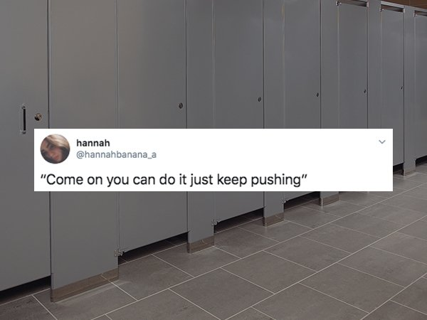 You Can Hear It In A Public WC