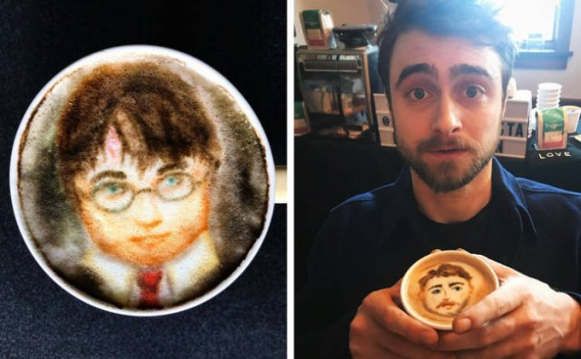 Awesome Celebrities' Portraits On Coffee