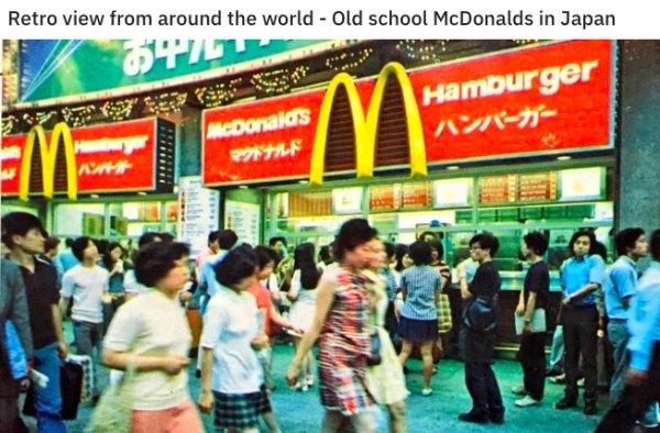 80's Fast Food Photos