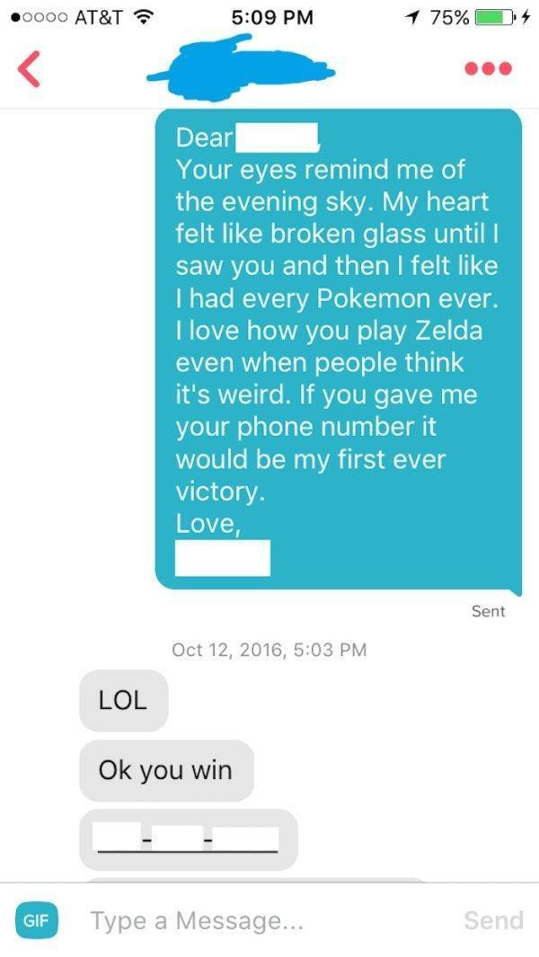 Tinder Pick-Up Lines