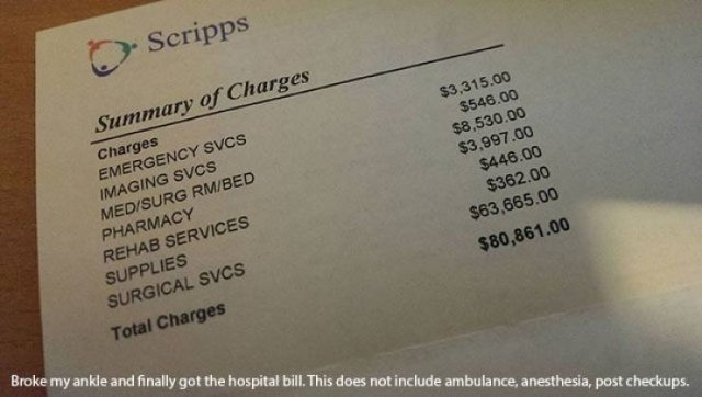 US Medical Bills Are Out Of This World