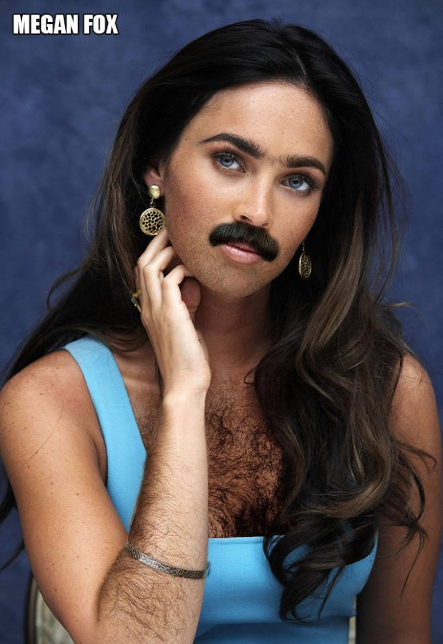 If Famous Ladies Were More Hairy...