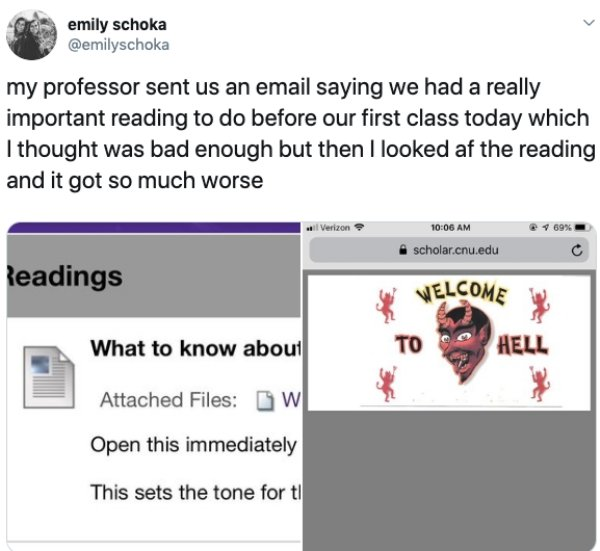 Messages Between Professors And Students
