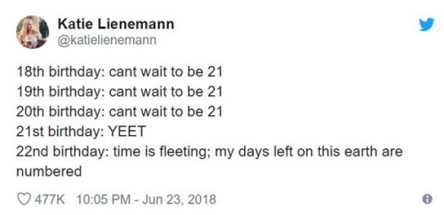 Tweets About Getting Older