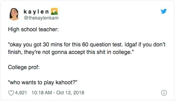 College Vs. School