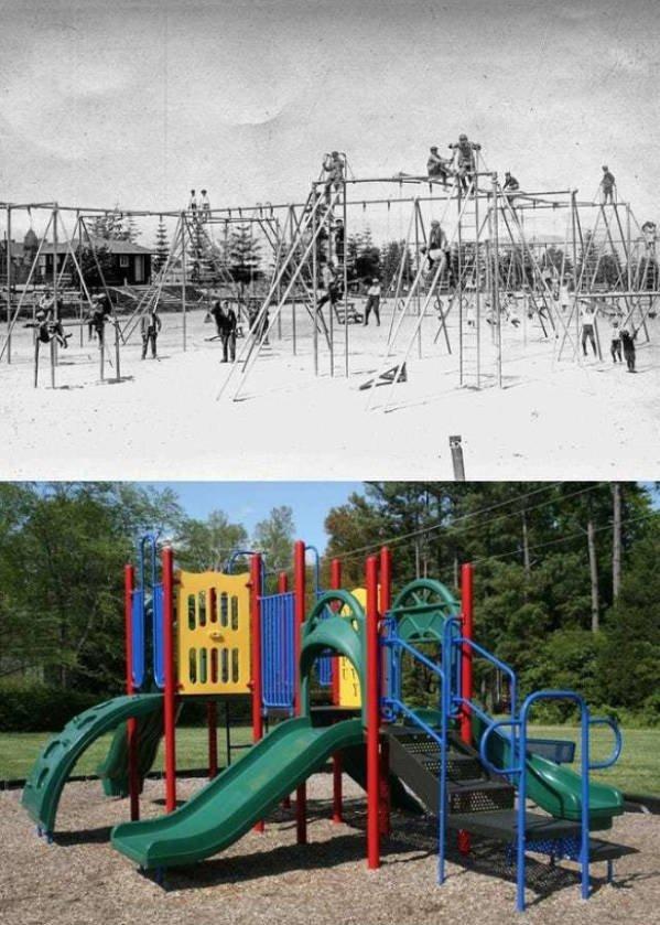 100 Years Ago Vs. Nowadays