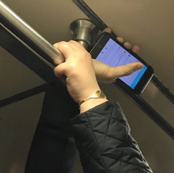 Unusual Hands In The Subway