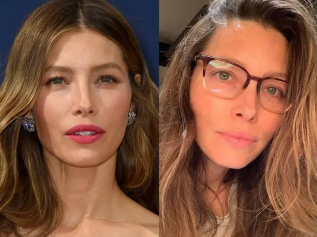 Famous Women With And Without Makeup, part 2