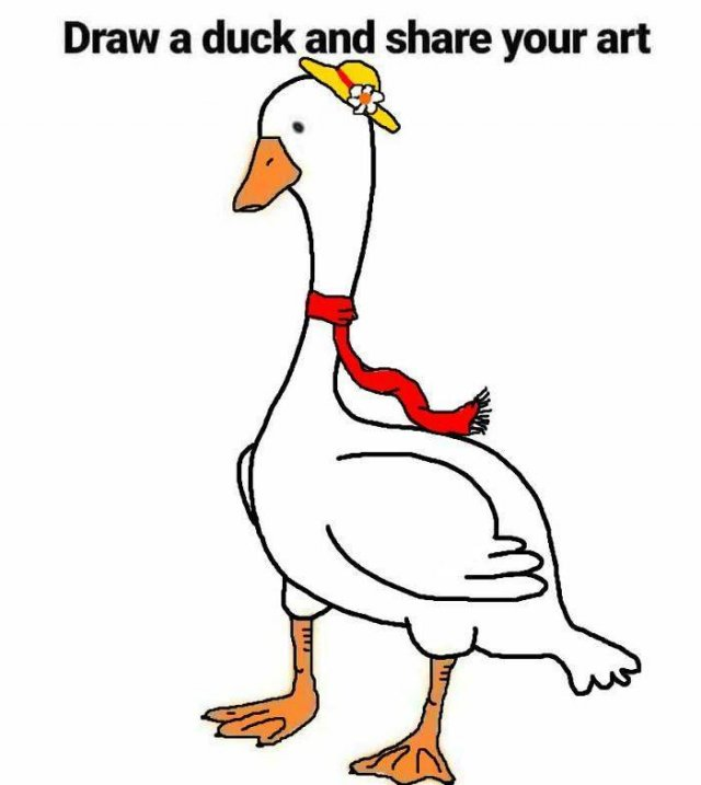 Just Try To Draw A Duck