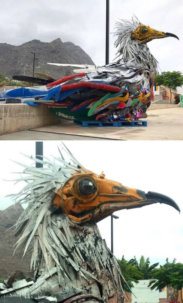 Artist Turns Abandoned Thrash Into Beautiful Animals