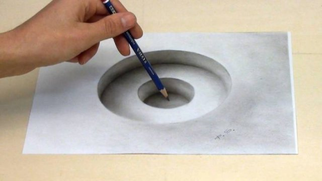 Incredible 3D Optical Illusion Drawings
