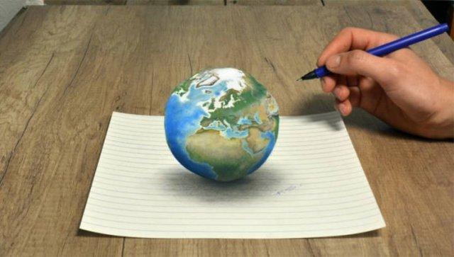 Incredible 3D Optical Illusion Drawings
