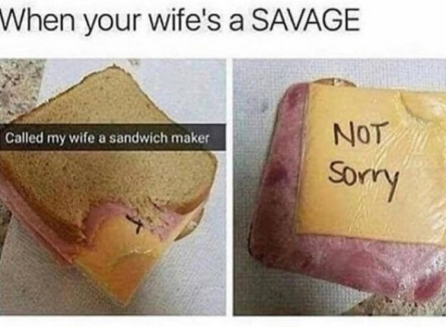 Sorry-Not Sorry Memes About Marriage