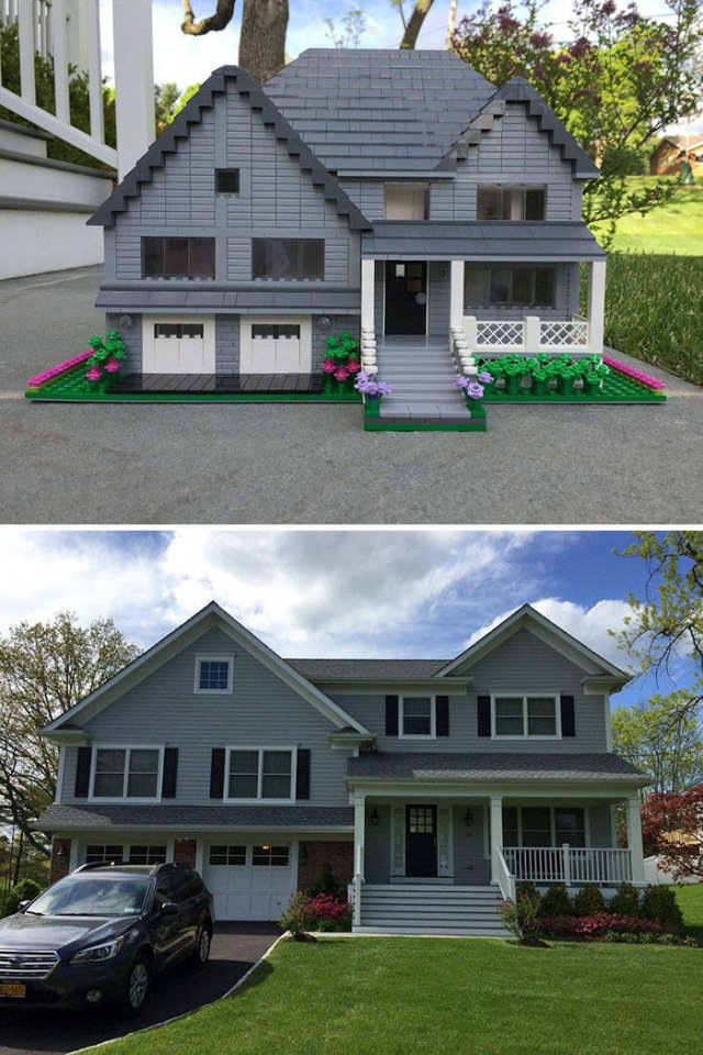 Designer Turns Real Homes Into LEGO Replicas