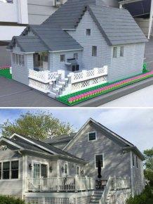 Designer Turns Real Homes Into LEGO Replicas