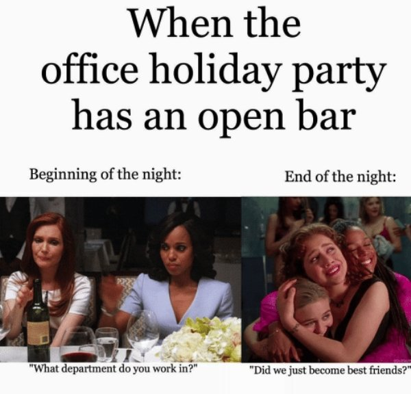 Office Holiday Party Memes