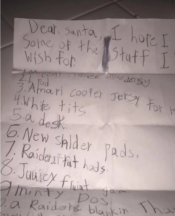 Kids' Christmas Lists