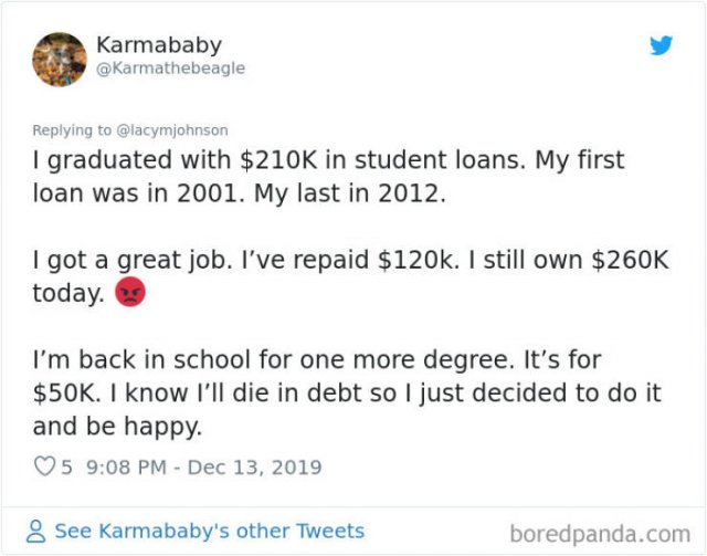 Americans Share Huge Student Loans