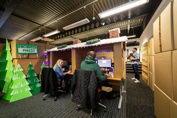 Office Christmas Maze