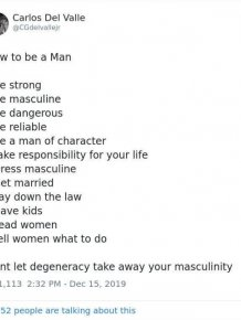 How To Be A Man And How To Be A Woman. It Was Supposed To Be A Funny Tweet