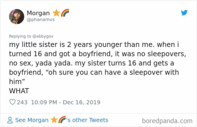 Tweets: The Older Sibling Vs. The Younger One