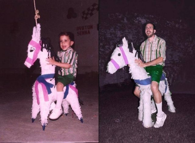 Then And Now: People Recreate Their Childhood Photos