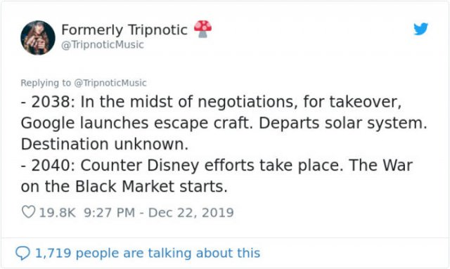 This Guy Wrote Disney's Timeline From 1995 - 2100, part 2100