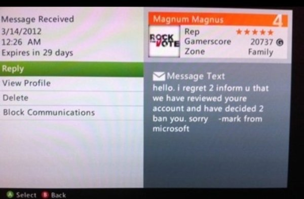 Funny Xbox Live Messages Fun
