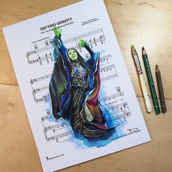 Music Sheet Drawings By Ursula Doughty