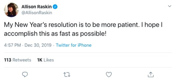 New Year's Resolution Tweets