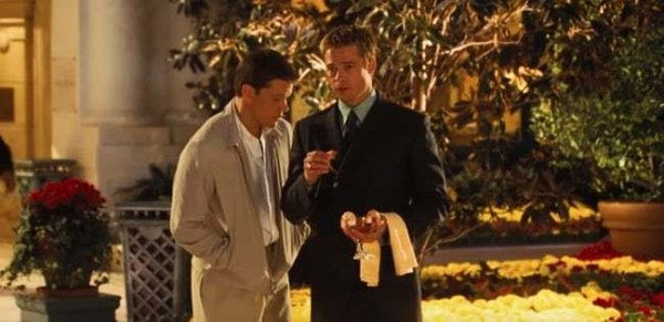 Brad Pitt Eating