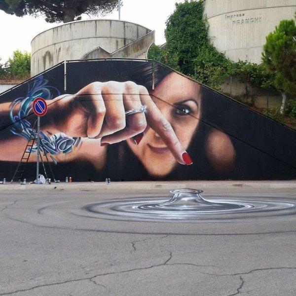 Amazing 3D Graffiti By Cosimo Cheone Caiffa