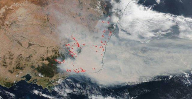 Satellite Images Show Australia's Wildfires