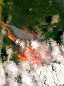 Satellite Images Show Australia's Wildfires