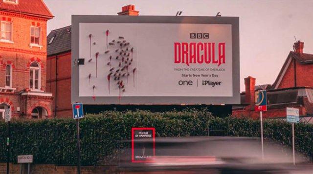 Creative BBC's 'Dracula' Billboard Ad