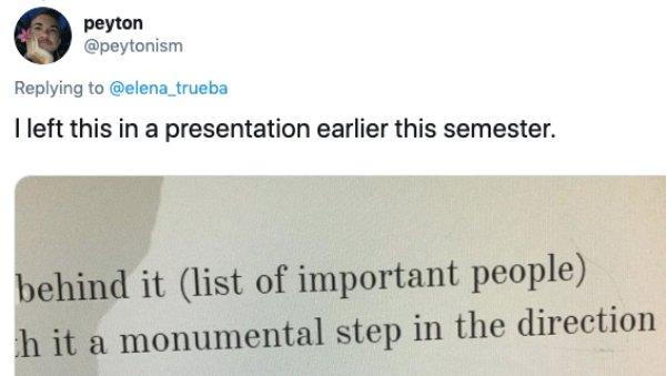 Students Who Should Have Read Their Works Before Submitting