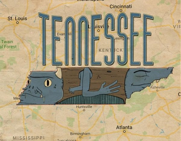 Artist Turned US Map Into Monster Map