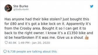 Man Bought Bike From A Thief And Returned It To Owner