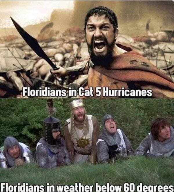 Memes About Sudden Winter In Florida