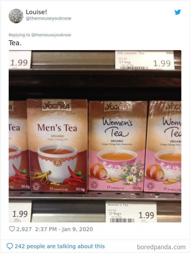 Unnecessarily Gendered Products