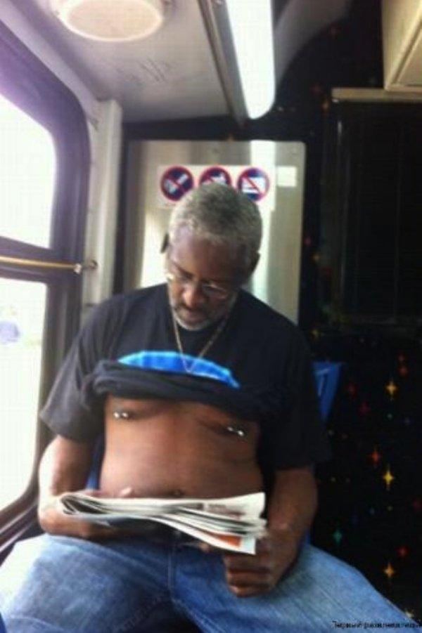 Strange Subway Passangers